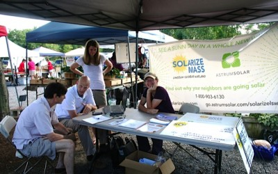 Solarize Wayland at the Farmers Market, 2012
