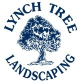 Lynch Landscape and Tree - Small White Blue Letters